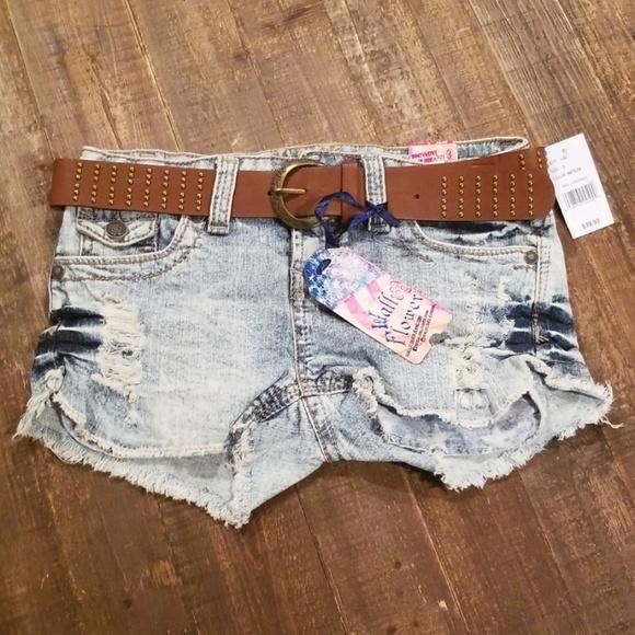 a76f5e5b77 Wallflower Shorts | Wall Flower Girls 3 Light Dark Blue Beach | Poshmark